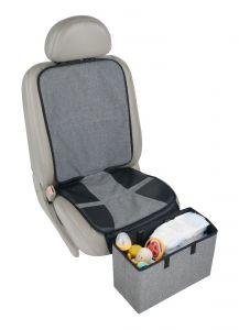Altabebe---Beschermmat-voor-de-autostoel-met-voetensteun/opbergbak---Grijs