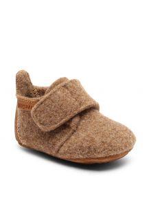 Bisgaard---Pantoffels-voor-baby's---Baby-wool---Bruin