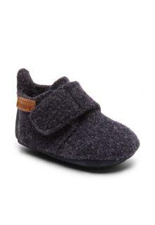 Bisgaard---Pantoffels-voor-baby's---Baby-wool---Blauw
