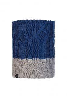 Buff---Gebreide-Polar-Nekwarmer-Ganbat-voor-kinderen---Blauw/Grijs