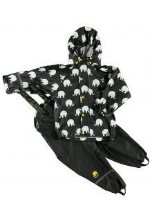 CeLaVi---Regenpak-met-Olifant-print-voor-kinderen---Geel