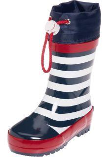 Playshoes---Regenlaarsje-Maritiem---Donkerblauw/Wit