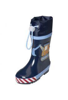 Playshoes---Regenlaarzen-voor-jongens---Bouwwerkplaats---Blauw