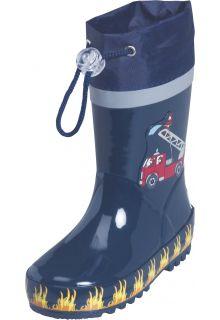 Playshoes---Regenlaarsje-Brandweer---Donkerblauw