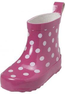 Playshoes---Korte-regenlaarsjes---Roze-met-stippen