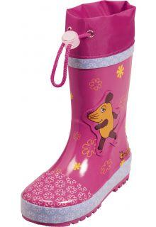 Playshoes---Regenlaarsje-Muis-Bloemen---Roze