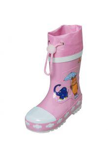 Playshoes---Regenlaarzen-voor-kinderen---Muis-&-olifant---Roze