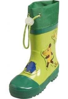 Playshoes---Regenlaarsje-Muis,-Olifant-&-Eend---Groen