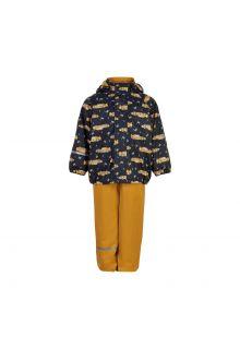 CeLaVi---Regenset-met-fleece-voor-kinderen---Race-auto---Marineblauw