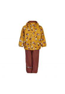 CeLaVi---Regenset-met-fleece-voor-kinderen---Vos---Mineraal-geel