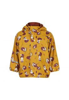 CeLaVi---Regenjas-met-fleece-voor-kinderen---Vos---Mineraal-geel