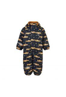 CeLaVi---Regenpak-met-fleece-voor-kinderen---Race-auto---Marineblauw