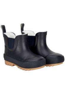 CeLaVi---Korte-snowboots-met-fleece-voor-kinderen---Thermisch---Donkerblauw