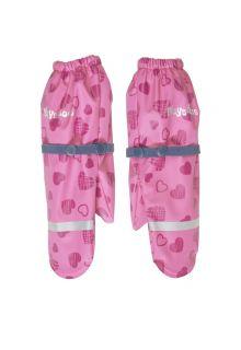 Playshoes---Regenwanten-met-fleece-voering-voor-meisjes---Hartjes---Roze