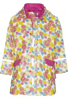 Playshoes---Regenjas-Flower-Print---Wit