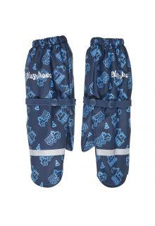 Playshoes---Regenwanten-met-fleece-voering-voor-jongens---Bouwwerkplaats---Marineblauw