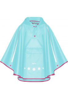 Playshoes---Regenponcho-voor-kinderen---Opvouwbaar---Turquoise