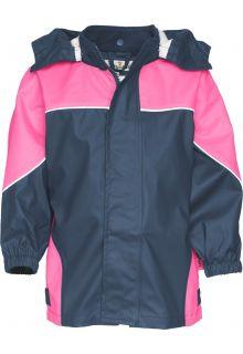 Playshoes---Regenjas-tweekleurig---Donkerblauw/Roze