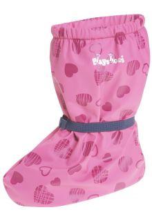 Playshoes---Waterdichte-overschoenen-met-fleece-voering---Hartendief---Roze