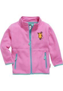 Playshoes---Fleece-jas-voor-kinderen---Muis---Roze