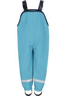 Playshoes---Softshell-broek-met-bretels-voor-kinderen---Aquablauw