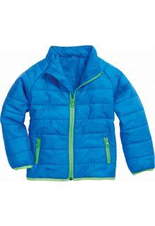 Playshoes---Gewatteerde-winterjas---Blauw/Groen