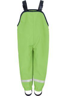 Playshoes---Softshell-broek-met-bretels-voor-kinderen---Groen