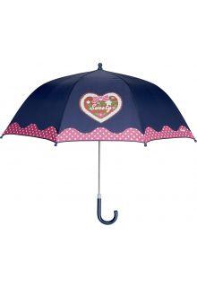 Playshoes---Kinder-paraplu-met-Hart-&-stippen---Donkerblauw