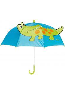 Playshoes---Kinder-paraplu-met-Krokodil---Blauw