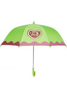 Playshoes---Kinder-paraplu-met-Hart-&-stippen---Groen