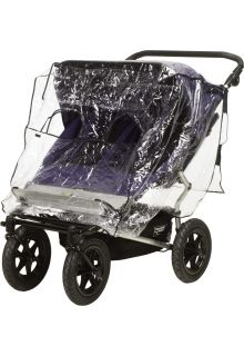 Playshoes---Regenhoes-voor-duo-buggy---Transparant