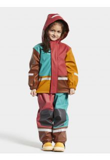 Didriksons---Regenpak-set-voor-baby's---Boardman---Multicolor---Rood