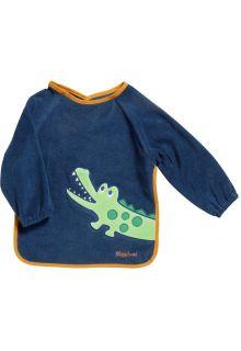 Playshoes---Slabbetje-met-mouwen-met-lang-sleeves-voor-kinderen---Onesize---Marineblauw