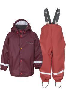 Didriksons---Regenpak-set-5-voor-baby's---Boardman---2-Color---Rood