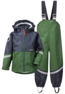 Didriksons---Regenkleding-set-voor-kinderen---Waterman---Groen/donkerblauw