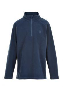 Color-Kids---Fleece-pullover-met-halve-rits-voor-kinderen---Effen---Donkerblauw