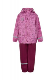 Color-Kids---Regenpak-voor-meisjes---AOP---Fuchsia-Roze