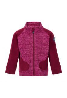 Color-Kids---Fleece-jasje-voor-baby's---Wanten---Donkerrood