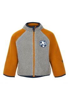 Color-Kids---Fleece-jasje-voor-baby's---Colorblock---Grijs/Honing