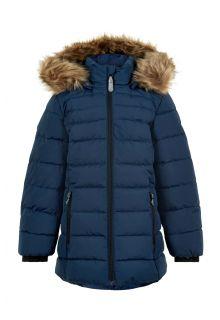 Color-Kids---Winterjas-voor-meisjes---Quilted-Solid---Donkerblauw