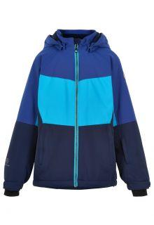 Color-Kids---Ski-jas-voor-meisjes---Colorblock---Cyaanblauw
