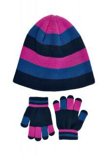 Color-Kids---Beanie-en-handschoenen-set-voor-meisjes---Roze