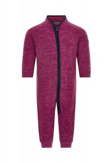 Color-Kids---Fleece-overall-voor-baby's---Melange---Donkerrood