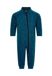 Color-Kids---Fleece-overall-voor-baby's---Melange---Donkerblauw