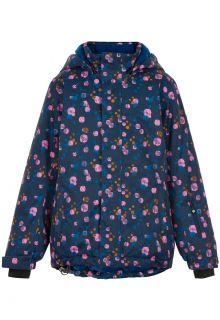 Color-Kids---Ski-jas-voor-meisjes---AOP---Donkerblauw/Multi