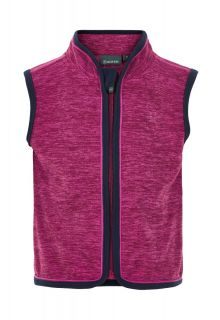 Color-Kids---Fleece-gilet-voor-baby's---Melange---Donkerrood