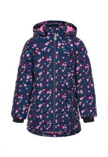 Color-Kids---Winterjas-voor-meisjes---Quilted-AOP---Donkerblauw