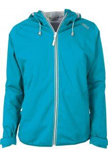 Pro-X-Elements---Opbergbare-regenjas-voor-dames---Davina---Neon-turquoise