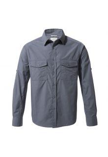 Craghoppers---UV-Overhemd-voor-heren---Longsleeve---Kiwi---Blauwgrijs
