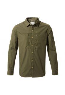 Craghoppers---UV-Overhemd-voor-heren---Longsleeve---Kiwi-Boulder---Donkergroen